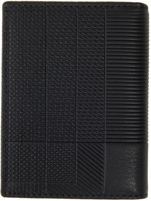 Comme des Garçons Wallets Black Intersection Bifold Card Holder