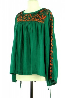 Berenice Green Cotton Top for Women