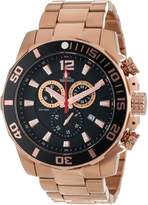 Rosegold Swiss Precimax Men's SP13257 Crew Pro Black Dial with Rose- Stainless Steel Band Watch
