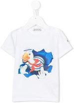 Moncler duck print T-shirt - kids - Cotton/Spandex/Elastane - 3 yrs