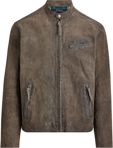 Thumbnail for your product : Ralph Lauren Suede Cafe Racer Jacket
