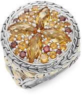 John Hardy Women's Batu Kawung Citrine, Garnet, Spessartine, 18K Yellow Gold & Sterling Silver Ring - Silver