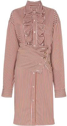 Plan C ruffled shirt dress