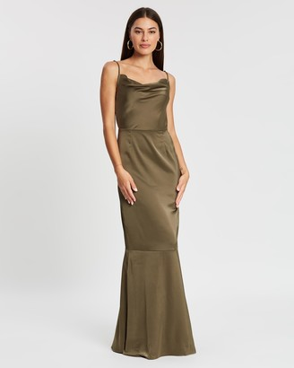 Missguided Satin Cowl Neck Maxi Dress