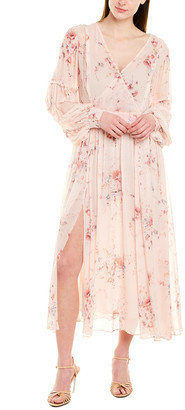 LoveShackFancy Leah Silk Midi Dress