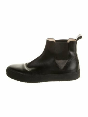 Fabiana Filippi Leather Chelsea Boots Black