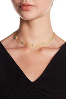 Freida Rothman 14K Gold Plated Sterling Silver Contemporary Deco Multistrand Collar Necklace