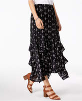 Style&Co. Style & Co Printed Tiered-Ruffle Maxi Skirt, Created for Macy's