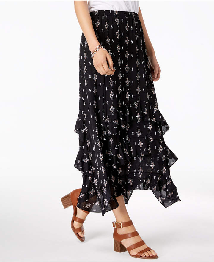 cfea0a834 Tiered Ruffle Maxi Skirt - ShopStyle