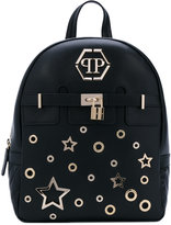 Philipp Plein star backpack - women - Leather/metal/Suede - One Size
