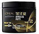 L'Oreal Advanced Hairstyle TXT It 02 Hyper-Fix Putty, 4 oz (Pack of 2)