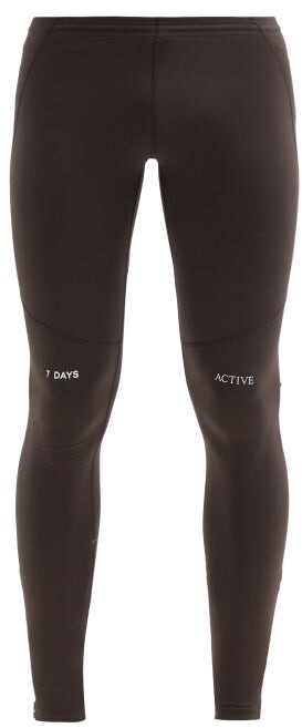 7 DAYS ACTIVE Endurance Stretch-jersey Running Tights - Black