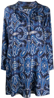 Etro Paisley Print Shirt Dress