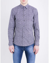 Diesel S-Wegee abstract-print slim-fit cotton shirt