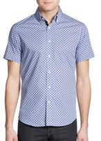 Report Collection Regular-Fit Circle-Print Cotton Sportshirt