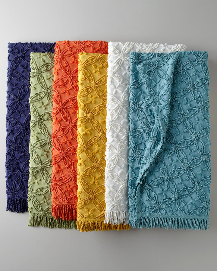 Pine Cone Hill Candlewick Throw