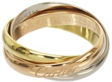 Cartier Trinity De 18K Tri Gold Band Ring Size 4.75