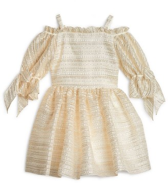 David Charles Tulle Puff-Sleeve Dress (8-16 Years)