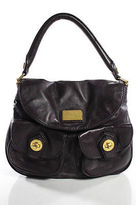 Marc by Marc Jacobs Purple Leather Pocket Front Satchel Handbag