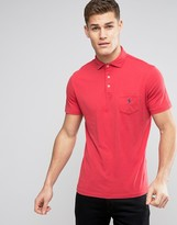 Polo Ralph Lauren Jersey Polo Custom Regular Fit Pocket Polo Player In Red
