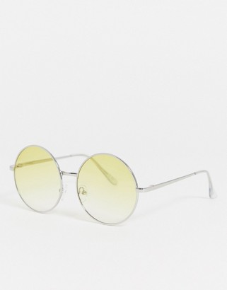 Jeepers Peepers round sunglasses in yellow