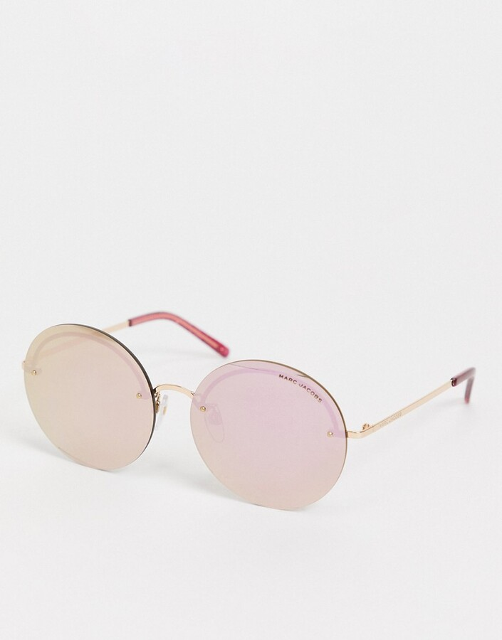 Marc Jacobs 406/G/S oversized round lens sunglasses