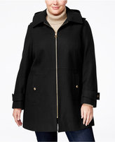 MICHAEL Michael Kors Size Hooded Wool-Blend Walker Coat