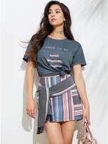 GUESS Women's Silas Striped Mini Skirt