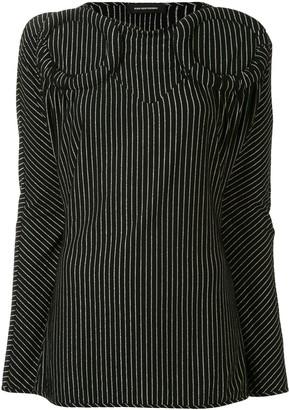 KIKO KOSTADINOV Striped Circular Detail Tunic Top