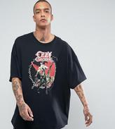 Reclaimed Vintage Inspired Ozzy Osbourne Super Oversized Band T-Shirt In Black
