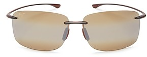 Maui Jim Unisex Hema Polarized Square Rimless Sunglasses, 62mm