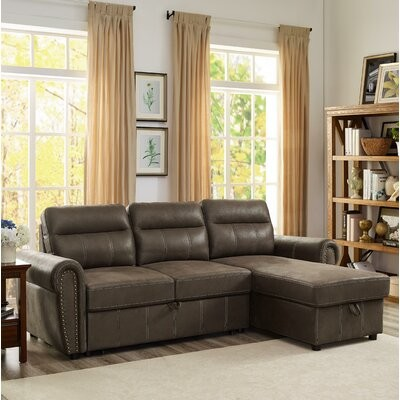 Thumbnail for your product : Winston Porter Dundarave Microfiber/Microsuede Reversible Sleeper Sofa & Chaise