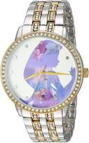Disney Women's 'Rapunzel' Quartz Metal and Alloy Casual Watch, Color:-Toned (Model: WDS000068)