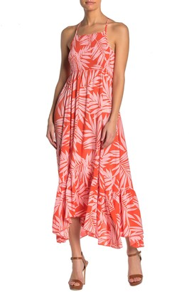 Lush Tropical Asymmetrical Midi Dress