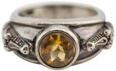 Kieselstein-Cord Barry Sterling Silver Citrine Alligator Ring