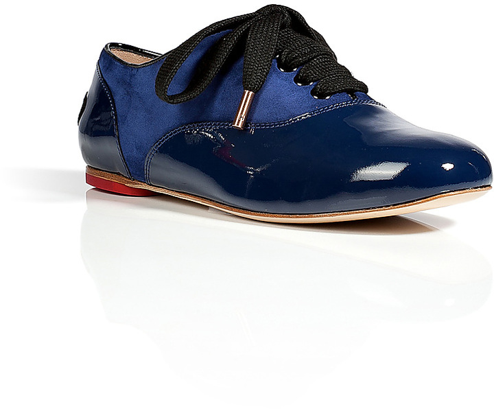 Hogan Katie Grand Loves Patent Leather/Suede Francesina Lace-Ups