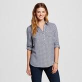Merona Women's Favorite Shirt Navy Plaid L