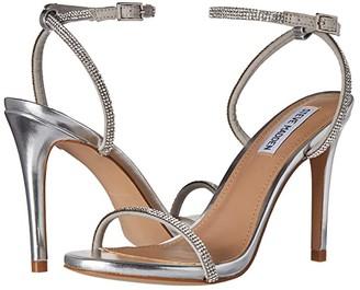 Steve Madden Festive Heeled Sandal (Silver) Women's Shoes