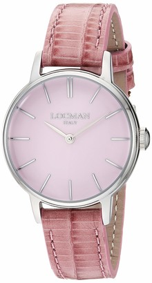 Locman Italy Women's 1960 Collection Stainless Steel Quartz Watch with Leather Strap
