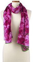 Classic Women's Digital Peony Floral Scarf-Bright Sea Teal