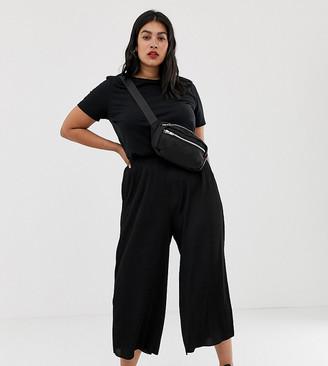 Asos DESIGN Curve plisse culotte pants