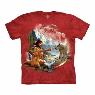 The Mountain Dreams of Wolf Spirit Adult T-Shirt