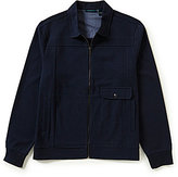 Perry Ellis Full-Zip Twill Jacket
