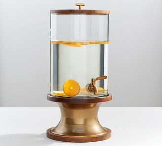 Pottery Barn Bleecker Mango Wood Drink Dispenser