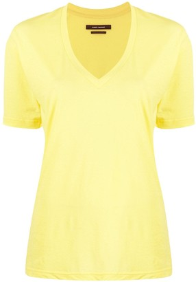 Isabel Marant Maree V-neck cotton T-shirt