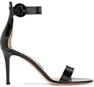 Gianvito Rossi Portofino 85 Patent-leather Sandals - Black