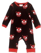 Infant Boy's Masalababy Fox Organic Cotton Fitted One-Piece Pajamas