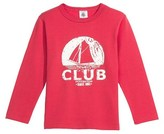 Petit Bateau Boys brushed cotton tee with sailboat silkscreen print