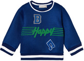 Stella McCartney Blue B Happy Musical Note Mesh Sweatshirt
