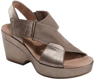 Earth Leather Heeled Adjustable Sandals - KhayaKendi